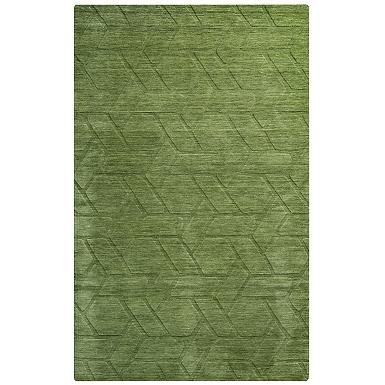 Green Geometric Area Rug 5x8