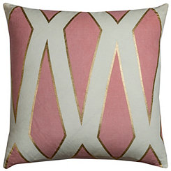 Pink Trellis Pillow