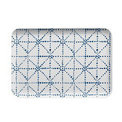 Shibori Dots Melamine Serving Tray
