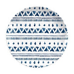 Indochine Ikat Melamine Salad Plates, Set of 4