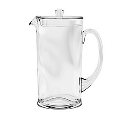 Clear Cordova Medallion Melamine Pitcher with Lid