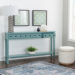Paloma Teal 4-Drawer Console Table