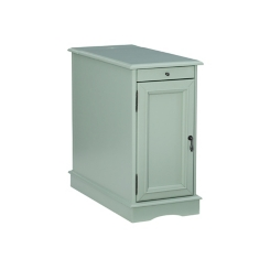 Aqua Accent Table with Charging Station