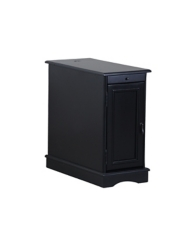 Black Accent Table with Charging Station