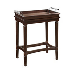 Cherry Accent Table with Removable Tray