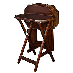 Andersen Espresso 5-pc. Tray Table and Stand Set