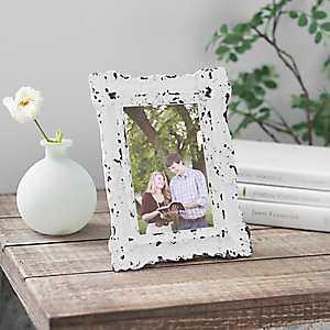 White Vintage Ornate Picture Frame, 4x6