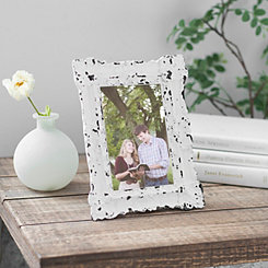 White Vintage Ornate Picture Frame, 4x6