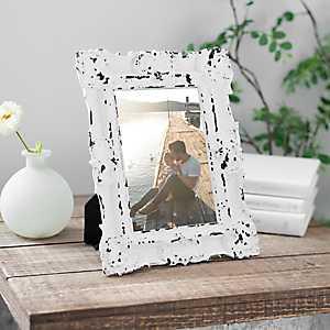 White Vintage Ornate Picture Frame, 5x7