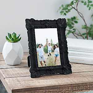 Black Vintage Ornate Picture Frame, 4x6