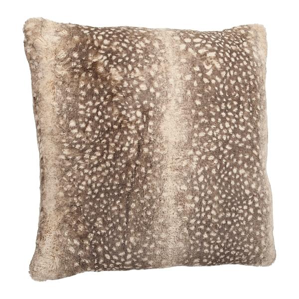 Brown Dyed Faux Fur Pillow