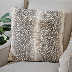 Brown Dyed Faux Fur Pillow