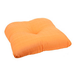 Solid Sunset Orange Outdoor Seat Cushion