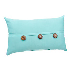 Solid Capri Outdoor Accent Pillow with Buttons