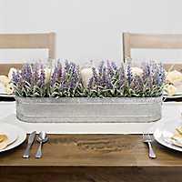 Lavender Centerpiece in Tin Planter
