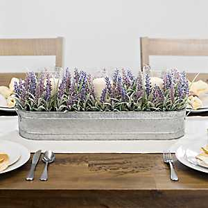 Lavender Centerpiece in Tin Planter