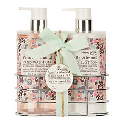 Vanilla Almond Hand Wash & Lotion Caddy