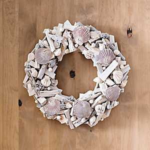 Seashell Driftwood Wreath
