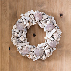 Seashell Driftwood Wreath