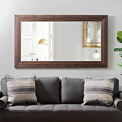 Woodgrain with Copper Edge Ornate Wall Mirror