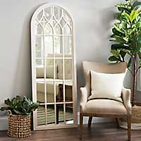 Sadie Cream Arch Decorative Leaner Arch Mirror