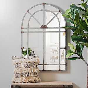 Galvanized Arch Wall Mirror