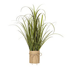Grass Arrangement in Braided Jute Planter, 26 in.