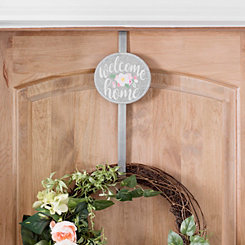 Welcome Home Floral Wreath Hanger