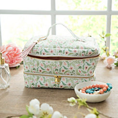 Floral Storage Case with Tassel