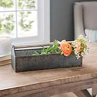 Galvanized Metal Doweled Caddy