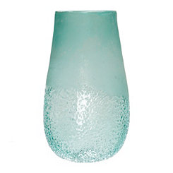 Sea Blue Glass Vase