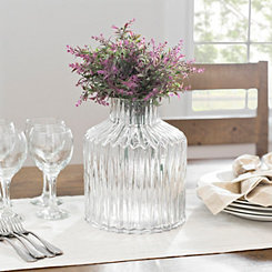 Glass Angle Vase, 10 in.