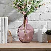 Blush Glass Vase, 10 in.