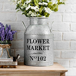 Flower Market Metal Vase, 16 in.