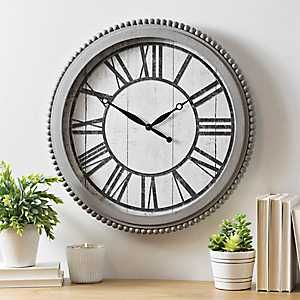 Audrey Gray Bead Wall Clock
