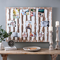 White Wash Pallet Collage Frame with Clips