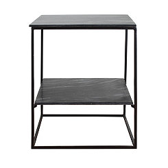Brennan Slate and Metal Accent Table