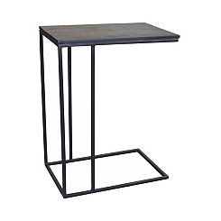Brennan Slate and Metal C-Table