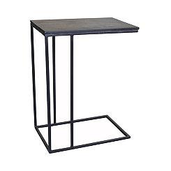 Brennan Slate and Metal C-Table