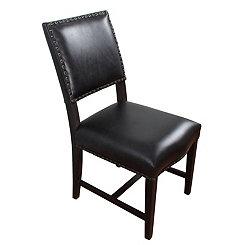 Brennan Black Leather Dining Chair