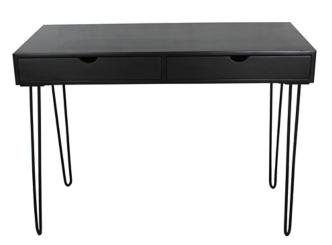 Black Brennan 2-Drawer Writing Desk