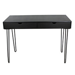 Black Brennan 2-Drawer Writing Desk