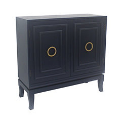 Navy Diane 2-Door Cabinet