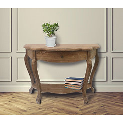 Brooke Natural Wood 1-Drawer Console Table
