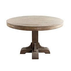 Gray Macy Round Pedestal Dining Table