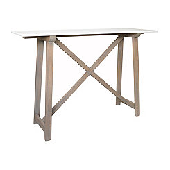 Gray Macy Marble Top Console Table