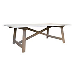 Gray Macy Marble Top Coffee Table
