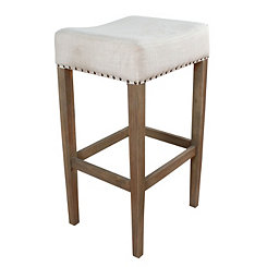 Gray Macy Pearly White Stool