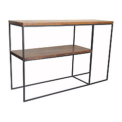 Brock Wood and Metal Console Table