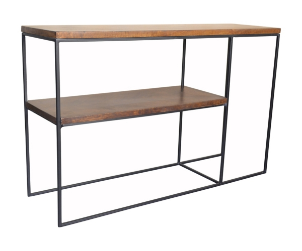 ... Brock Wood And Metal Console Table